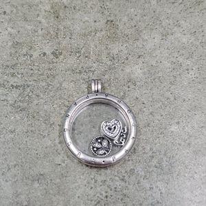 Pandora Large Floating Locket with charms